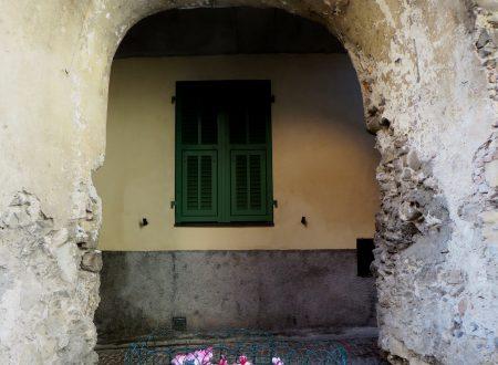 Bordighera (IM): un tratto di mura in Via Circonvallazione