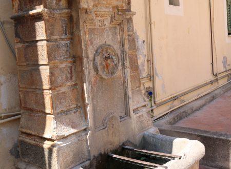 Ospedaletti (IM): la fontana di Piazza San Giovanni Battista